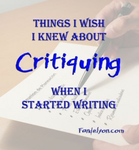Things I wish I knew about critiquing when I started writing